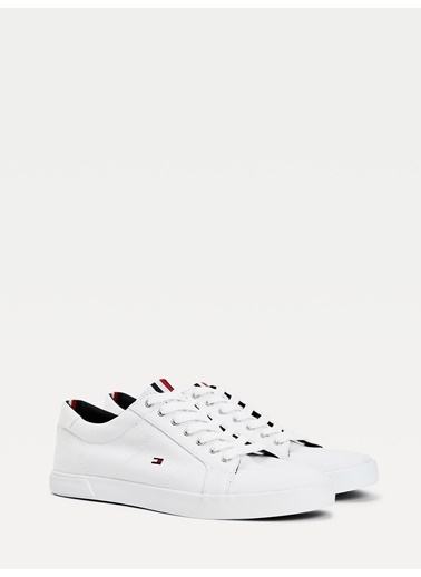 Tommy Hilfiger Erkek Iconıc Long Lace Sneak Sneakers FM0FM01536 Beyaz